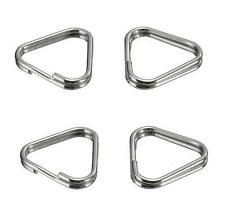 2 Pairs x Metal Chrome Finish Triangle Camera Strap Lug Ring Hook Replacement