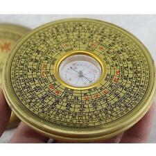 10cm Dai BAGUA COMPASS Metal Chinese Feng Shui Lo Luo Pan Chi Ying Yang Luck X @