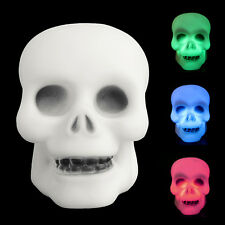 Colorful Flash LED Mini Skull Night Light Lamp Halloween Party Decor Gift Prop