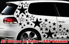 105 Sterne XXL Set Star Auto Aufkleber Sticker Tuning Stylin WandtattooTribel xx