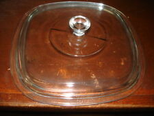 "Corning Ware Vintage REPLACEMENT Glass CASSEROLE DISH LID COVER 9"" P-9-C-1"