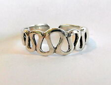 Sterling Silver (925) Adjustable  Loops  Toe Ring  !!     Brand New !!