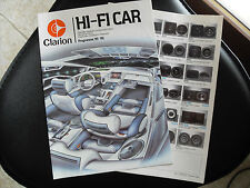 CATALOGO-BROCHURE-DEPLIANT CLARION HI-FI CAR 1985-1986  -RT
