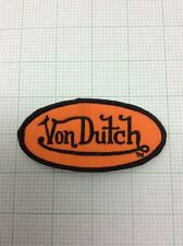 VON DUTCH OVAL PATCH NEW Orange/ Black