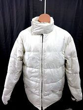 TOMMY HILFIGER MENS IVORY WHITE & BLACK  DOWN SKI JACKET SIZE L