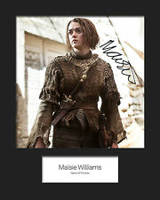 GAME OF THRONES - ARYA (Maisie Williams) #2 Signed 10x8 Mounted Photo
