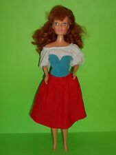 Clone barbie KID CORE anni 90 esmeralda capelli rossi red hair doll belle beast