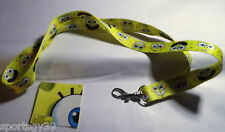"SPONGEBOB SQUAREPANTS 18"" YELLOW LANYARD NECKLACE KEY CHAIN RING PASS PATRICK"
