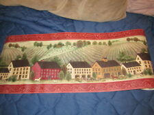 WALL BORDER PAPER FARM SCENE  1 ROLL TOTAL OF FIVE YARDS.