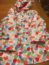 GYMBOREE Multicolored LINED HOODED RAINCOAT GIRLS  Sz SMALL   5/6