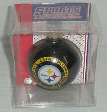 Pittsburgh Steelers Ornament NEW In Package AFC Champions Glass Ball 2008