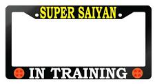 Glossy Black License Frame Super Saiyan In Training Auto Dragon Ball Z 4