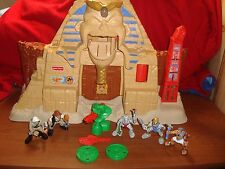 Fisher Price Great Adventures Egyptian Pyramid w/ all Figures and Accessories