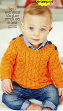 ~ Pull-Out Baby Knitting Pattern For Cabled Jumper & Tank Top To  Knit ~
