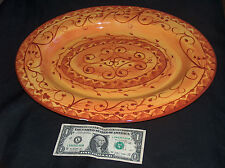 "Pier 1 One Imports Karistan 16"" Hand Painted Earthenware Serving Plate Platter"