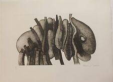 Gravure aquatinte de François BEALU signée numérotée Atlante nue 1975 surrealism