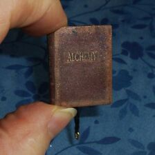 Dollhouse Miniature BOOK OF ALCHEMY! Replica of Ancient Pages, Beautiful!!