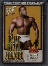 WWE Raw Deal CCG Mania Starter Deck Booker T MINT