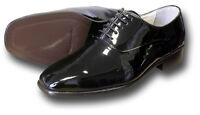 BLACK EVENING DRESS SHOES PATENT LEATHER