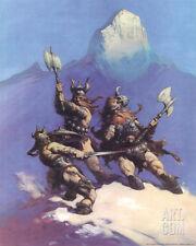 Snow Giants (cover art for Conan of Cimmeria) Art Print by Frank Frazetta