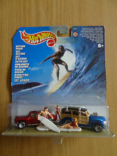 HOTWHEELS SURF ACTION PACK CUSTOM HOT RODS SURFBOARD BOARDS WOODIE CHEVY NOMAD