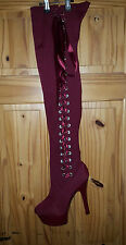 Ladies Kinky Sexy Thigh High Platform Boots  Size EU 42