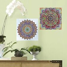 GEOMETRIC MANDALA Color your own Decals Wall Adult Coloring Stickers Kids Design