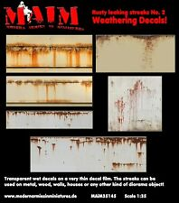 MAiM Models 1/35 Rusty Leaking streaks Weathering Decals No.2