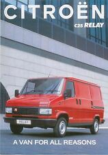 Citroen C25 Relay Van 1992-93 Original UK Market Sales Brochure