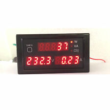AC 380V 220V Digital LED 100A watt power meter volt amp Ammeter Voltmeter 240V