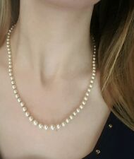 SUPERBE COLLIER DE PERLE DE CULTURE - COLLIER EN CHUTE - FERMOIR OR JAUNE