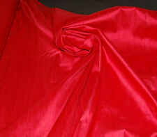 100% Natural Silk Dupioni Fabric Red Luxurious High Quality (BY THE YARD SALE)