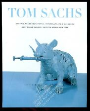 1999 Tom Sachs Tiffany's rat with syringe photo NYC gallery vintage print ad