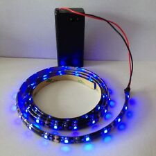 SCALECTRIX senary Luce LED Blu, 9v A BATTERIA 500mm impermeabile striscia.
