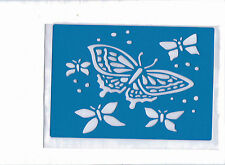 Plastic/PVC/PP/Embossing/Stencil/Butterfly/Multi/Design/Bendy/REDUCED