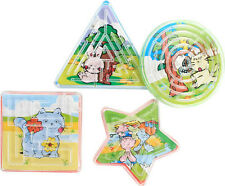 LOT DE 10 MINI LABYRINTHE JEUX DE PATIENCE 6 CM  Assorti : JOUETS KERMESSE