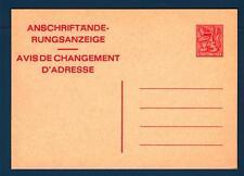 BELGIUM - BELGIO - Cart. Post. - 1982 - Avviso cambio indirizzo  -  Stemma  -