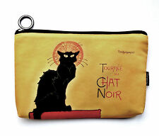 """Cosmetic Bag - """"Chat Noir""""  Design, Fabric,  Gorgeous - Function with Style"""