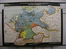 Schulwandkarte Wandkarte Kaiserreich nach dem Ersten 1. Weltkrieg 196x140 Karte