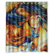 Special Offer Custom Horse Painting Bathroom Fabric Shower Curtain 60x72 inch