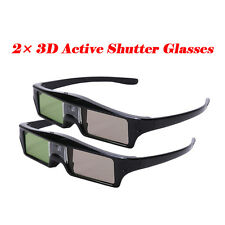 2× 3D Active Shutter Glasses Rechargeable for BenQ Acer Optoma Epson Movie Game