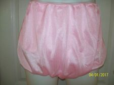 PINK Nylon Tricot Bubble Bloomer & SLEEVE PANTIES For Men   30-42 Waist