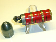VINTAGE BULLET LIGHTER - RED LACQUER WITH ENGRAVINGS- KASCHIE ? - 1930 - GERMANY