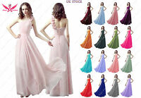 A-Line/Princess Full-Length Chiffon Evening Prom Bridesmaid Dress size 6 to 24