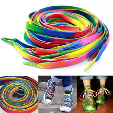 Rainbow Athletic Sport Sneaker Shoelace Flat Bootlaces Shoelaces Strings Laces Q