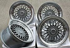 "18"" OEMS ES1 RS ALLOY WHEELS DEEP DISH STAGGERED GUNMETAL POL 18 INCH ALLOYS"