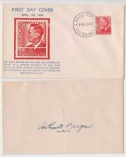 Stamp Australia 1950 KGV1 2&1/2d issue Bergen cachet FDC Largs North, signed
