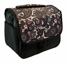 Designer Black Paisley DSLR Camera Bag, HAN-E226678849
