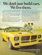 1973 HOLDEN HQ MONARO GTS 350 A3 POSTER AD BROCHURE MINT ADVERTISEMENT ADVERT