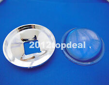 78mm Transparent Led Optical Glass Lens Reflector 5-90 Degree + 82mm Lens Holder